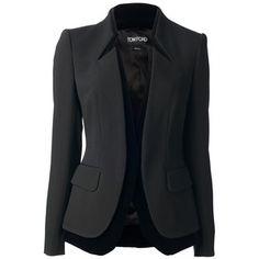 TOM FORD contrast trim blazer
