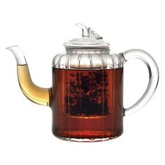 Charming Glass Teapot with Infuser.