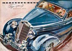 Mercedes 220, Mercedes Benz Maybach, Car Illustration, Illustrations, Daimler Benz, Classic Mercedes, Motor Car, Auto Motor, Motor Sport