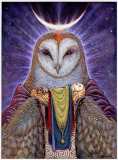 Serenity - Mother Owl.  I have this , framed and on my kitchen counter
