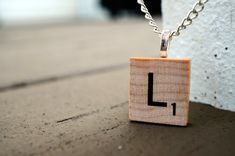 Scrabble® Necklace Pendant with Chain | Choose Letter | Teachers, Librarians, Game/Book Lovers, Authors, Poets, Bookworms, Mom, English Lit by LettersByLilly on Etsy