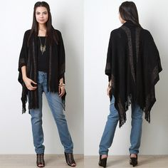 """Tuxedo """"Shirley Temple"""" Cardigan Black wrap with sashes in the front that can be wrapped around your neck like a scarf. Classic casual look! Brand new WITHOUT tags. Also available in ivory. Bare Anthology Jackets & Coats"""