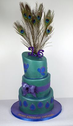 Kallis Peacock Birthday Cake Pretty As A Peacock Party Cakes - Peacock birthday cake