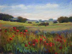 'Roadside Poppies'           18x24 pastel   ©Karen Margulis