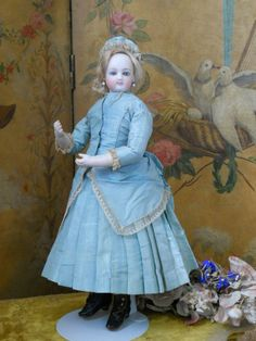 ~~~  Rare French Poupee by Cruchet in All Original Condition / 1865 ~~~