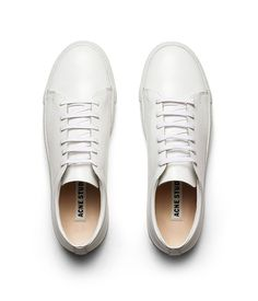 3fcfff2a64c4ea Acne Adrian White is a sneaker made in polished leather.