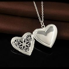 Discount 2015 New 925 Sterling Silver Jewelry Heart Photo Locket Necklace Pendant Best Gift For Women Girl P1018 From China | Dhgate.Com