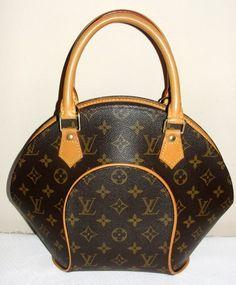 Louis Vuitton Lv Monogram Ellipse Pm Brown Bag Satchel - 11 Main