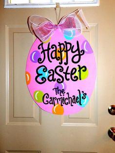 Easter Egg Door Hanger by brookesullivan on Etsy