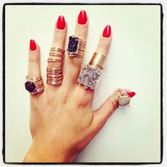 This photo makes me soooo happy!! They just sold my Full Finger Wrap Ring to Paris Hilton!! Thank you!!! Kami Lerner http://www.sadeesays.com/shop/kami-lerner/kami-lerner-gold-filled-wire-wrap-ring-full-finger/ Get it now at Sadee Says for special Lunch 15% discount code california15 at purchase