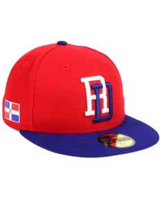 4f81f3c4937 New Era Dominican Republic World Baseball Classic 59FIFTY Fitted Cap - Red 6  7 8