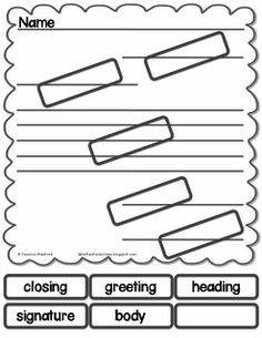 Friendly letter freebie! 2nd Grade Writing, Kindergarten Writing, Pre Writing, Writing Lessons, Writing Workshop, Writing Resources, Teaching Writing, Writing Letters, Teaching Ideas