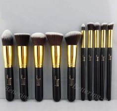 Premium Synthetic Kabuki Makeup Brush Set Cosmetics Foundation Blending Jessup