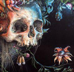 Juxtapoz Magazine - The Work of Kraser Diy Poster, Crane, Arte Punk, Skeleton Art, Skeleton Bones, Skulls And Roses, Arte Horror, Skull Design, Grim Reaper