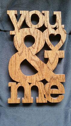 Oak scroll saw love/valentine. Anniversary or valentine.
