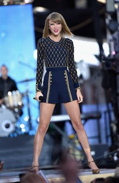 And this outfit that makes her look like a Fabergé egg.   The Definitive Ranking Of Taylor Swift's Short Shorts