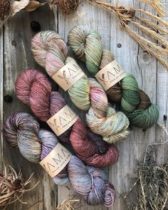 Gorgeous Yama skeins put together by a talented Maker yarn from Woolhogs.co.za #yamayarn #yamafibreart #swoon #yarnstagram…