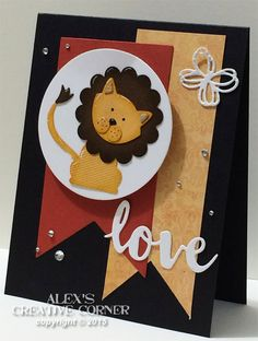 Foxy Lion Card by punch-crazy - Cards and Paper Crafts at Splitcoaststampers