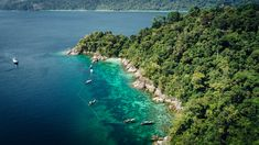 Aerial view from one of the hopping islands around Adang Island. High season does not end yet, make your experience worthwhile.