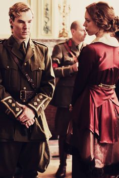 """""""Parades End""""~ Benedict Cumberbatch and Rebecca Hall playing Christopher and Sylvia Tietjens."""