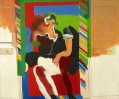 Reflected Man by Allen Jones Arts Council Collection Date painted: 1963 Oil on canvas, x cm Collection: Arts Council Collection Ontario, Patrick Heron, Allen Jones, Art Uk, Paint Designs, Contemporary Paintings, Art Google, Painting & Drawing, Oil On Canvas