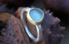 sea glass jewellery, handmade ethical wedding rings, fairtrade - Cornish Sea Glass
