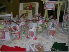 Mementos designs...colorful Christmas  boutique items, 'HoHo-cocoa to go' and 'have a poppy Christmas' popcorn gifts, fun stuff for the kids!