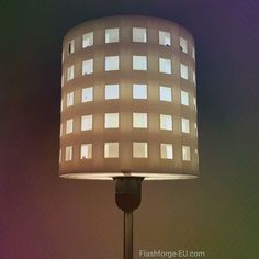 lampshade for standard light fixture (concentric perforated shading walls) file, CreativeTools