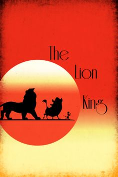 Disney Art The Lion King Poster movie poster