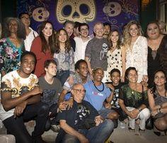 Elenco de 'Pé na Cova' reunido em coletiva da quarta temporada (Foto: Globo/Renato Rocha Miranda)