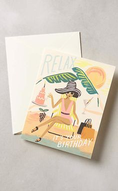 Birthday Relaxation Card #anthrofave
