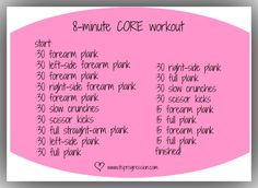 8-minute Core workout