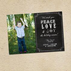 Peace Love & Joy Custom Blackboard Holidays / by LilMonkeysDesigns, $15.00