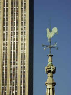 Weather Vane, Empire State Building in the background, NYC.