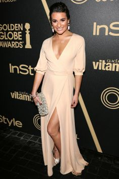 Lea Michele At The Golden Globes Pre Party