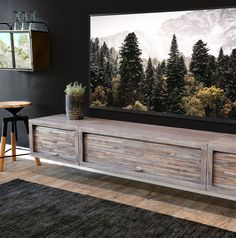 Gray Floating TV Stand Modern Wall Mount Entertainment Center Console - ECO GEO Lakewood