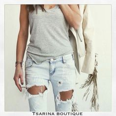 #spring#fashion#jeans#ripped#white#jacket