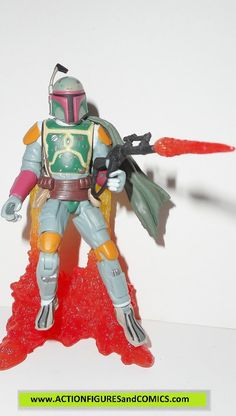 star wars action figures BOBA FETT pit of carkoon 2003 complete attack of the…