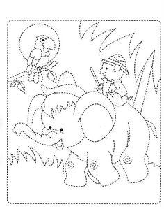 traç - Glòria P - Picasa Web Albums Fine Motor Activities For Kids, Learning Activities, Kids Learning, Coloring For Kids, Coloring Books, Coloring Pages, Tracing Worksheets, Kindergarten Worksheets, Wall Stencil Patterns