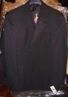 Doc & Amelia Aerocool Black Blazer Jacket Machine Washable Size 40 Reg New Tags  #DocAmelia #TwoButton