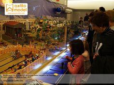 El Primer Belén Interactivo de Playmobil diseñado por Grupo Axfito y Playmarkt en CC Serrallo Plaza de Granada. Electrónica, Arduino, interactividad, automatización