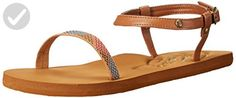 Roxy Women's Nico Flat Sandal, Tan, 8 M US - All about women (*Amazon Partner-Link)