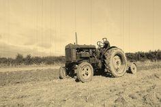 Like my Granddaddy on his farm tractor.
