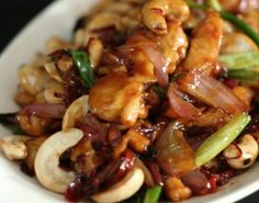 Chinese Pineapple Chicken With Cashew Nuts, Ginger, Spring Onion Recipe… Asian Recipes, Healthy Recipes, Ethnic Recipes, Spring Onion Recipes, Great Recipes, Dinner Recipes, Dinner Ideas, Easy Summer Dinners, Pineapple Chicken