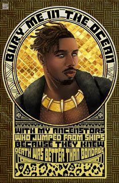 Bury Me © Tyrine Carver of Musetap Studios #blackpanther #black #panther #marvel #mcu #erikkillmonger #killmonger #NJadaka #michaelbjordan