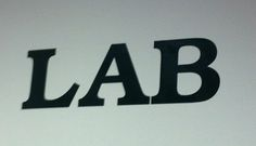 This is from the Design Lab which is ironic because the kerning between the L and A is way off compared to the A and B.
