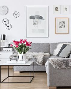 Simple, chic, minimal living room.