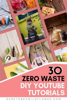 30 DIY video tutorials for zero waste projects, swaps, and ideas! Live a more sustainable life by doing even one of these things in your life. Every little decision you make to create less waste helps. Be the change! Diy Videos, Video Tutorials, Diy Deodorant, Natural Candles, Plastic Waste, Eco Friendly House, Do It Yourself Home, Zero Waste, Diy Tutorial