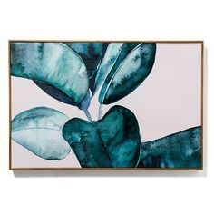 In a deep green colour palette with a natural timber frame, the Painterly Palm Prints depict beautiful botanical images sitting against a simple white background. The close up look allows you to see the incredible use of watercolour found in these prints.