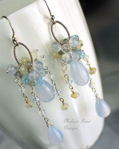 WHISPER  Chalcedony Opal Sky blue Topaz by melanielanddesigns, $263.00